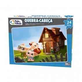 Jogo Quebra-Cabeça: Os Três Porquinhos - 24 Peças | Pais & Filhos