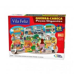 Jogo Quebra-Cabeça Peças Gigantes: Vila Feliz - 28 Peças | Pais & Filhos