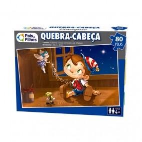 Jogo Quebra-Cabeça: Pinóquio - 80 Peças | Pais & Filhos