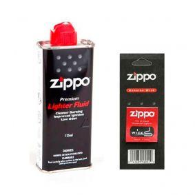 Kit Fluido + Pavio Genuíno para Isqueiro Zippo