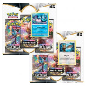Pokémon TCG: 2 Triple Pack SWSH2 Rixa Rebelde - Mantine + Noctowl