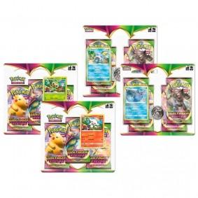 Pokémon TCG: 2 Triple Pack SWSH4 Voltagem Vívida - Grookey e Scorbunny +  2 Quad Pack SWSH4 Voltagem Vívida - Sobble + Vaporeon