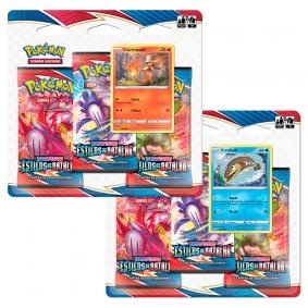 Pokémon TCG: 2 Triple Pack SWSH5 Estilos de Batalha - Charmander + Arrokuda
