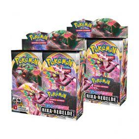Pokémon TCG: 2x Booster Box (72 pacotes) SWSH2 Rixa Rebelde