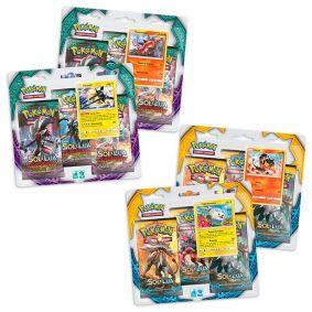 Pokémon TCG: 4 Triple Pack SM1 Sol e Lua e SM2 Guardiões Ascendentes - Litten + Togedemaru + Turtonator + Vikavolt