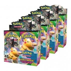Pokémon TCG: 4x Booster Box (144 pacotes) SWSH4 Voltagem Vívida