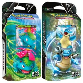 Pokémon TCG: Baralho Batalha V - Venusaur + Blastoise