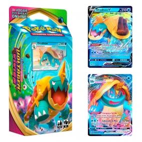Pokémon TCG: Baralho Temático Drednaw + Drednaw V (014/073) + Drednaw VMAX (015/073)