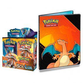 Pokémon TCG: Booster Box (36 unidades) SM1 Sol e Lua + Pasta Oficial Ultra PRO Charizard