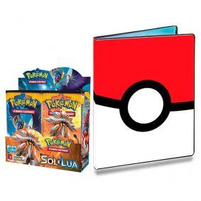 Pokémon TCG: Booster Box (36 unidades) SM1 Sol e Lua + Pasta Oficial Ultra PRO Poké Ball