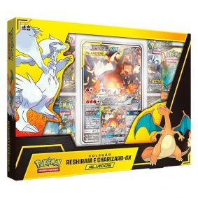 Pokémon TCG: Box Aliados Coleção Reshiram e Charizard-GX