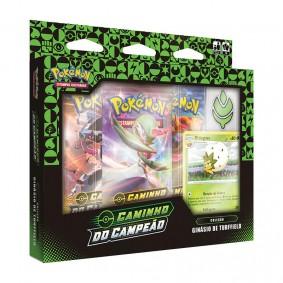 Pokémon TCG: Box Coleção SWSH3.5 Caminho do Campeão - Ginásio de Tuffield (Grama)