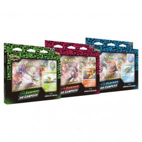 Pokémon TCG: Box Coleção SWSH3.5 Caminho do Campeão - Ginásio de Tuffield +  Hullbury + Motostoke