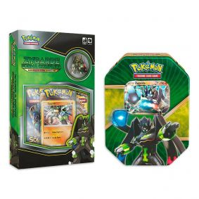 Pokémon TCG: Box Coleção Com Broche - Zygarde Forma Completa + Lata Colecionável Batalha de Coração - Zygarde EX