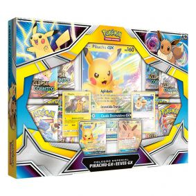 Pokémon TCG: Box Coleção Especial - Pikachu GX e Eevee GX
