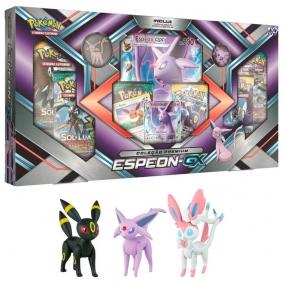 Pokémon TCG: Box Coleção Premium Espeon-GX + Bonecos Umbreon, Espeon e Sylveon | TOMY