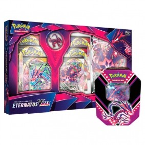 Pokémon TCG: Box Coleção Premium - Eternatus VMAX + Lata Colecionável Poderes V - Eternatus V