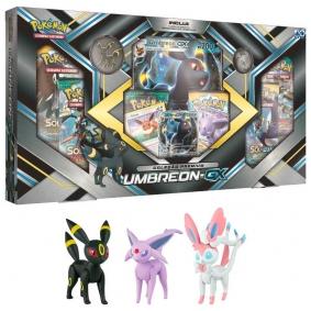 Pokémon TCG: Box Coleção Premium Umbreon-GX + Bonecos Umbreon, Espeon e Sylveon | TOMY