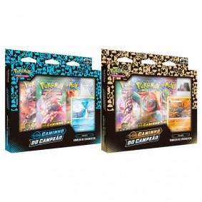 Pokémon TCG: Box Coleção SWSH3.5 Caminho do Campeão - Ginásios de Circhester Gelo + Pedra