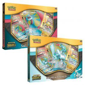 Pokémon TCG: Box Salamence-GX + Kyurem Branco-GX SM7.5 Dragões Soberanos