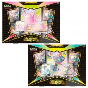 Pokémon TCG: Box SWSH4.5 Destinos Brilhantes  - Coleção Premium Crobat Brilhante VMAX + Dragapult Brilhante VMAX