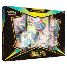 Pokémon TCG: Box SWSH4.5 Destinos Brilhantes  - Coleção Premium Dragapult Brilhante VMAX