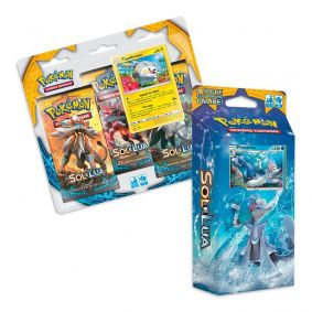 Pokémon TCG: Deck SM1 Sol e Lua - Maré Brilhante + Triple Pack Togedemaru