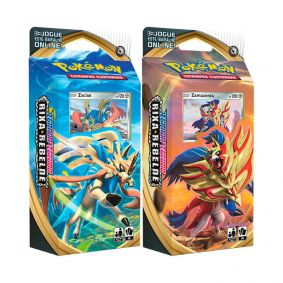 Pokémon TCG: Deck SWSH2 Rixa Rebelde - Baralho Temático Zacian + Zamazenta
