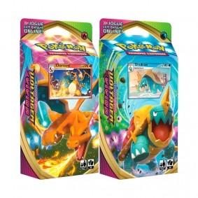 Pokémon TCG: Deck SWSH4 Voltagem Vívida - Baralho Temático Charizard + Drednaw