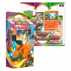 Pokémon TCG: Deck SWSH4 Voltagem Vívida - Baralho Temático Charizard + Triple Pack Scorbunny