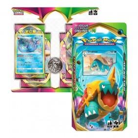 Pokémon TCG: Deck SWSH4 Voltagem Vívida - Baralho Temático Drednaw + Quad Pack Vaporeon