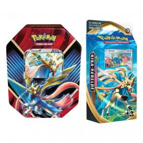 Pokémon TCG: Lata Colecionável Lendas de Galar - Zacian V + Baralho Temático Zacian