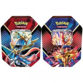 Pokémon TCG: Lata Colecionável Lendas de Galar - Zacian V + Zamazenta V
