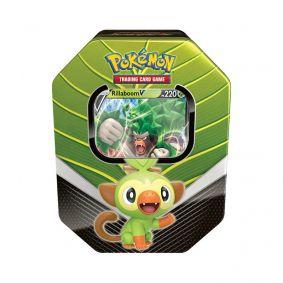 Pokémon TCG: Lata Colecionável Parceiros de Galar - Rillaboom V