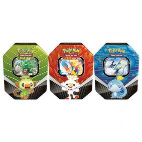 Pokémon TCG: Lata Colecionável Parceiros de Galar - Rillaboom V + Cinderace V + Inteleon V
