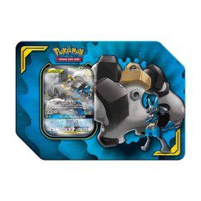 Pokémon TCG: Lata Colecionável Parceria Poderosa - Lucario e Melmetal GX