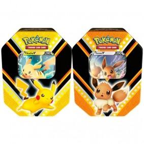 Pokémon TCG: Lata Colecionável Poderes V - Pikachu V + Eevee V