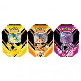 Pokémon TCG: Lata Colecionável Poderes V - Pikachu V + Eevee V + Eternatus V