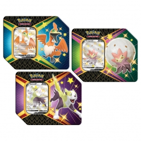 Pokémon TCG: Latas Colecionáveis Destinos Brilhantes - Eldegoss V + Boltund V + Cramorant V
