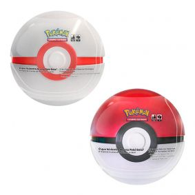Pokémon TCG: Latas Colecionáveis Poké Bola (Poké Ball) + Premier Ball/Bola Prêmio