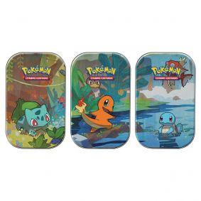 Pokémon TCG: Mini Latas Amigos de Kanto - Bulbasaur + Charmander + Squirtle