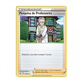 Pokémon TCG: Pesquisa de Professores: Profª Magnólia (178/202) - SWSH1 Espada e Escudo