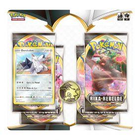 Pokémon TCG: Quad Pack SWSH2 Rixa Rebelde - Duraludon