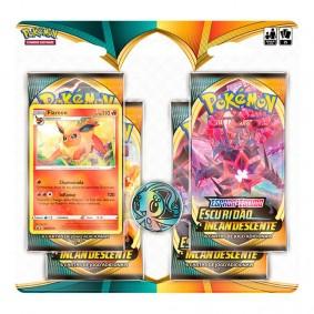 Pokémon TCG: Quad Pack SWSH3 Escuridão Incandescente - Flareon