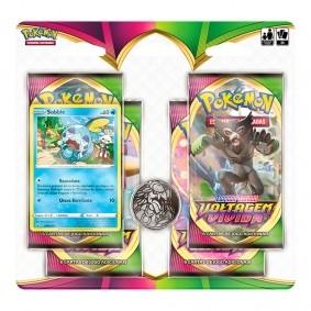 Pokémon TCG: Quad Pack SWSH4 Voltagem Vívida - Sobble