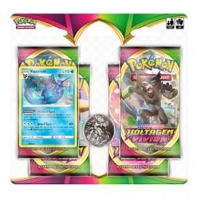 Pokémon TCG: Quad Pack SWSH4 Voltagem Vívida - Vaporeon