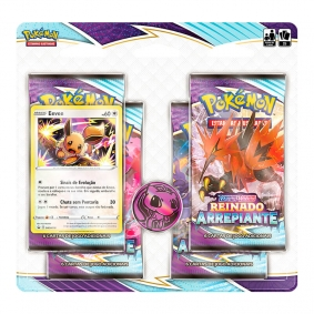 Pokémon TCG: Quad Pack SWSH6 Reinado Arrepiante - Eevee