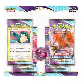 Pokémon TCG: Quad Pack SWSH6 Reinado Arrepiante - Snorlax
