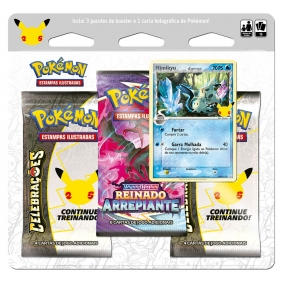 Pokémon TCG: Triple Pack Celebrações - Mimikyu Espécie Delta