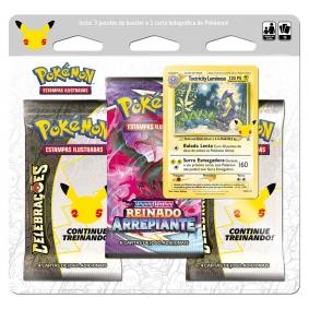 Pokémon TCG: Triple Pack Celebrações - Toxtricity Luminoso
